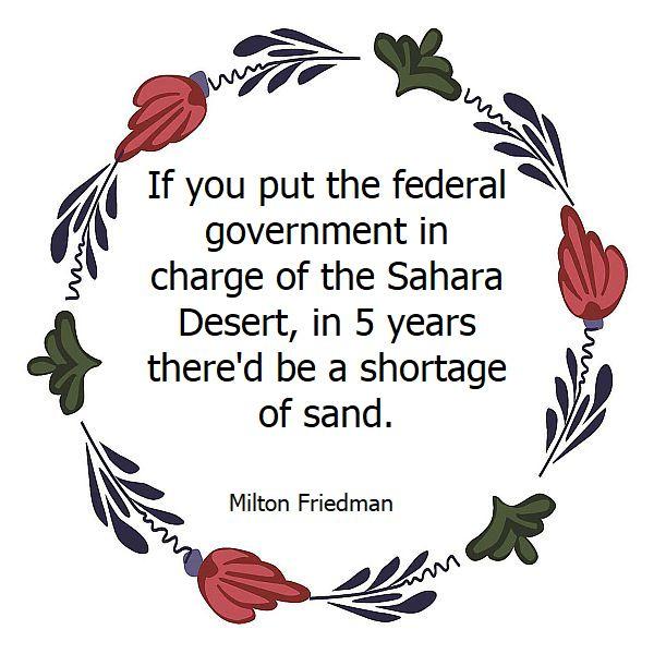 milton friedman Sahara
